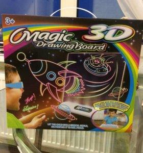 Волшебный 3D Планшет Magic Drawing Board