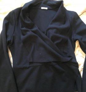 Трикотажный костюм (пиджак+юбка) р46