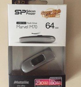 Новая флешка Silicon power 64Гб