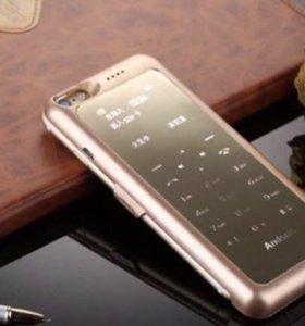 Телефон с 1 сим + чехол + аккумулятор для iPhone 6