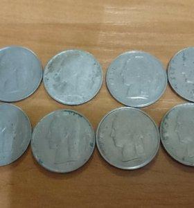 1 франк. Монеты Бельгии.