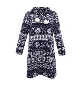 Домашнее флисовое платье с этническим узором