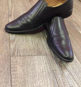 Военный туфли из натуральной кожи размер 44.