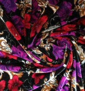 Ткань для шитья бархат цветной