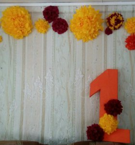Цветы (арка из цветов) украшение из салфеток
