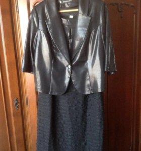 Новое платье-костюм.52 рм.
