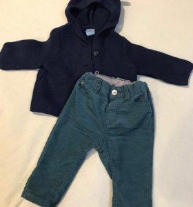 Кардиган Gap и вельветовые брюки H&M