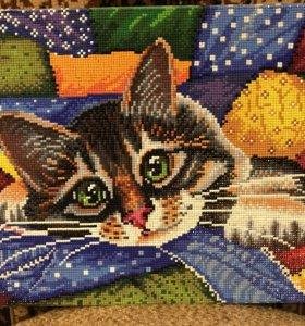 Картина «Котик в лоскутках»