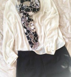 Платок Chanel шелковый
