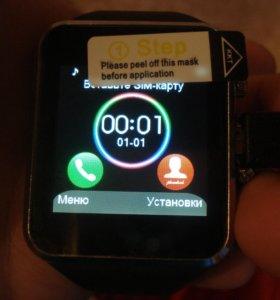Умные часы Smart Watch W8 черные часы - телефон