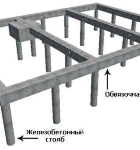 Свайный фундамент 10х10м