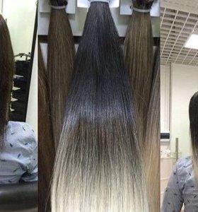 Волосы для наращивания на капсулах на заказ