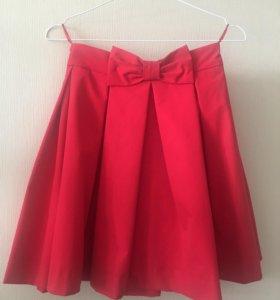 Новая красная юбка befree,42 р-р