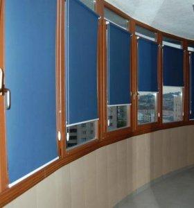 Рулонные шторы Альфа-синий