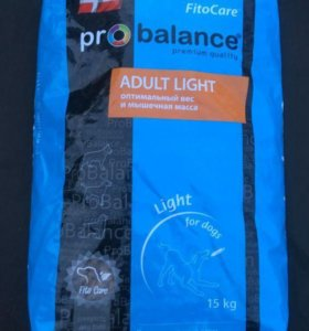 Корм Pro balance adult light. Вес 15 кг