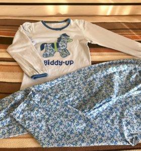3 пижамы  из хлопка Mothercare 7-8 лет 128 см .