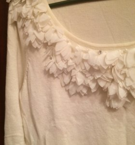 Блуза трикотажная белая