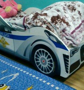 Детская кроватка длина 160 см.Полиция