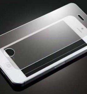 Защитное стекло на iPhone 5, 5S, SE, 4S и др.