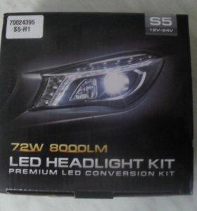 светодиодные лампочки с вентиляторами H1. 12V