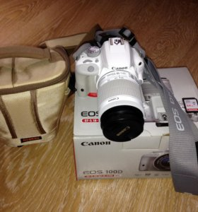 Canon EOS 100D Kit EFS18-55mm IS STM, 18Mpx, White