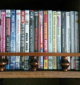 DVD диски, компьютерные игры.
