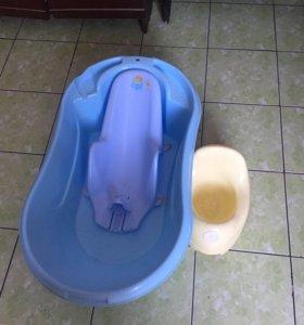 Детская ванночка(набор горка+горшок)