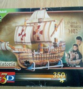 Пазлы 3D корабль