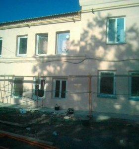 Фасадные работы частных домов и коттеджей