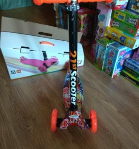 Самокат детский  скутер на 3-х колесах
