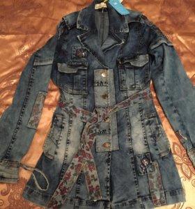 Новый джинсовый плащ