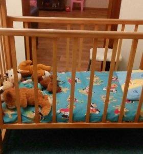 Детская кроватка матрас в подарок