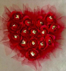 Сладкий Подарок 💝 букет из конфет сердце