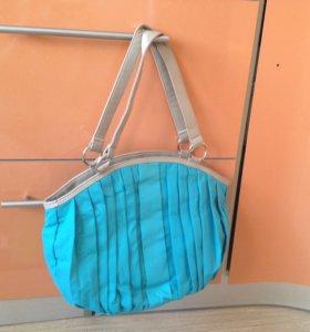 Новая тканевая сумка на молнии