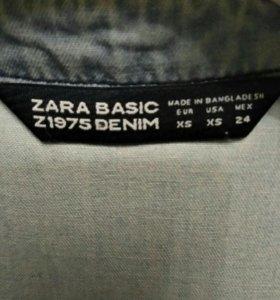 Джинсовое платье-рубашка Zara