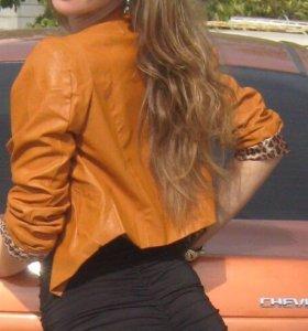 Продается коротенькая курточка из кожзама!