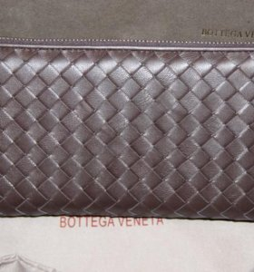 Мужской кожаный клатч BottegaVeneta brown новый