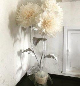 Огромные ростовые цветы