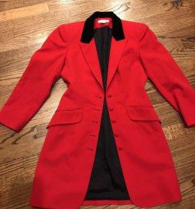 Винтажный удлиненный пиджак-платье
