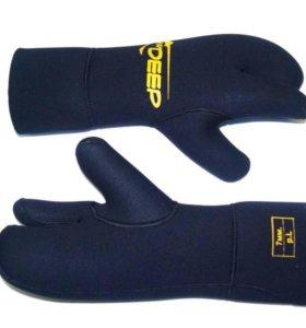 Трехпалые неопреновые рукавицы 7мм