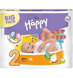 Подгузники памперсы Bella Happy № 2 (78 штук)