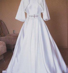 Свадебное платье из микадо
