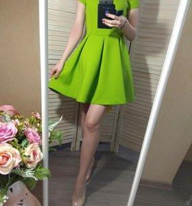 Новое зеленое платье (неопрен)