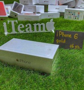 Apple iPhone 6 16Gb Gold Запакованный