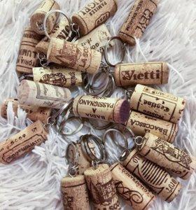 Брелок из винной пробки