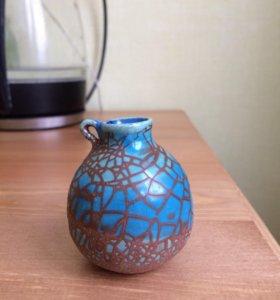 Декоративная керамическая вазочка