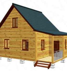 Готовый дом из бруса 6x8