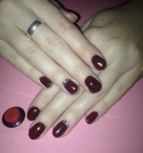 Шеллак, наращивание ногтей)