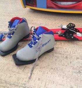 Лыжи Nordway с ботинками р.30