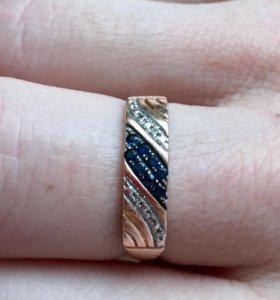 Кольцо 585 с сапфирами и бриллиантами